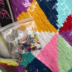 Bags - multi color sequin cross over bag